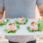 Summer Dinner Party on the Beach Hamachi Lettuce Cup